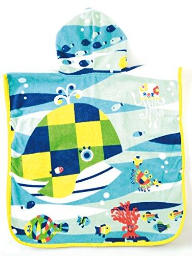 Solby towel poncho (with fish mittens) breeze you walk sea? [Bath] [pool] AKSB103500