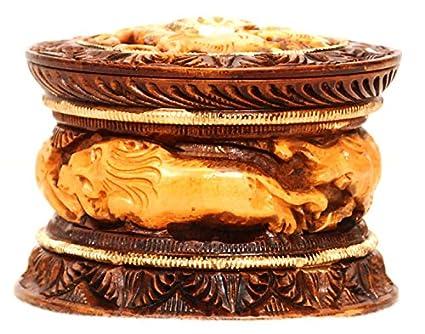 Vrindavan Bazaar - Caja de Madera para Interiores (10,16 cm)