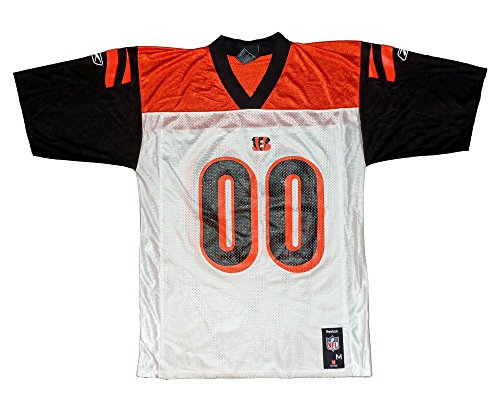Cincinnati Bengals NFL Mens Team Mid Tier Jersey, White & Orange (Large, White / Orange) ()