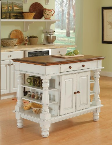 Americana Antique White Kitchen Island by Home -