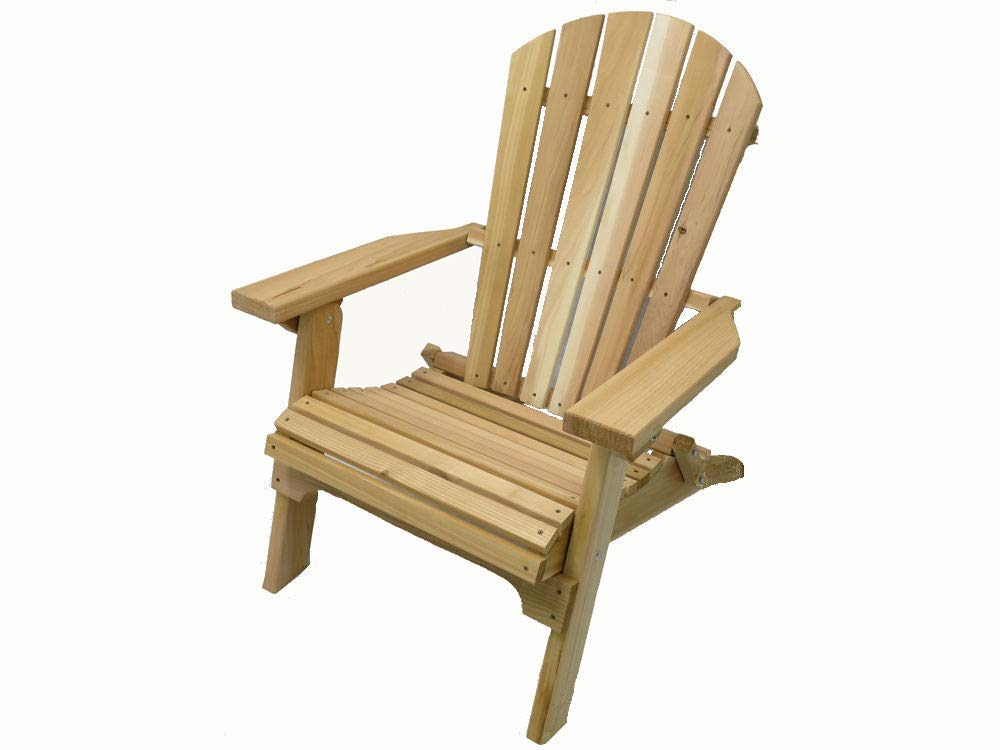 Kilmer Creek Folding Natural Cedar Adirondack Chair, Amish Crafted