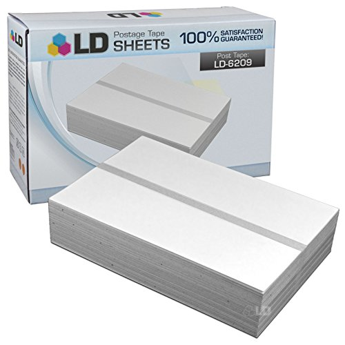 LD Compatible Replacement for Pitney Bowes 620-9 (300 Tapes, 150 Per Box) Postage Tape Double Sheets for MailStation K700, 2 (K7M0), Personal Post Meters DM100i, DM125, DM200L, & (Pitney Bowes Replacement)