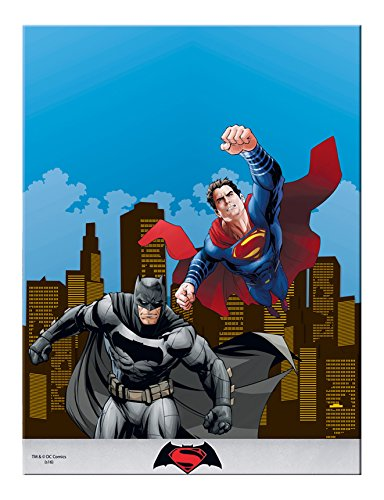 Plastic Batman vs Superman Tablecloth, 1.8m x 1.2m