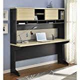 Altra Pursuit Credenza and Hutch Bundle in Natural and Gray