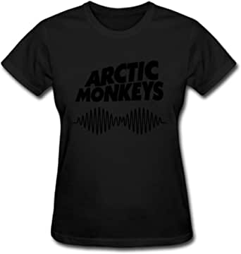 Hefeihe Arctic Monkeys AM Logo Women's Cotton Short Sleeve T-Shirt