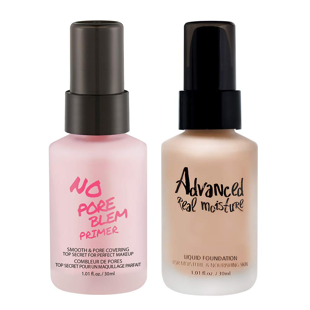 TOUCH IN SOL No Pore Blem Primer 30ml + Advanced Real Moisture Liquid Foundation 30ml (#23 Set) by Touch in Sol