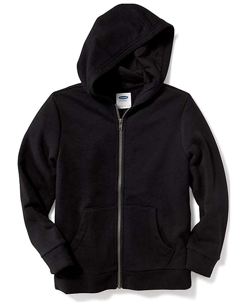 Old Navy Back to School Sale Black Zip-Front Hoodie for Boys!