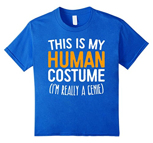 Genie Costumes For Teens (Kids This Is My Human Costume I'm Really A Genie T-Shirt 4 Royal Blue)