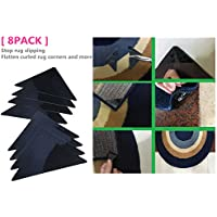 [8PCS] Sticky Pads Non-Slip Rug Pads Rug-ON-Floor Anti-Slip, Safe Wood Floors Indoor & Outdoor Rugs, Washable & Reusable Renewable Sticky Gel Furniture, Bed, Sports Equipment More
