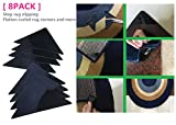 [8PCS] Sticky Pads Non-Slip Rug Pads for RUG-ON-FLOOR Anti-Slip, Safe for Wood Floors. for Indoor & Outdoor Rugs, Washable & Reusable Renewable Sticky Gel for Furniture, Bed, Sports Equipment and More