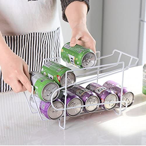 estante apilable para latas de cerveza frigor/ífico dispensador de bebidas y latas de almacenamiento AAC estante de almacenamiento para latas frigor/ífico organizador para cocina