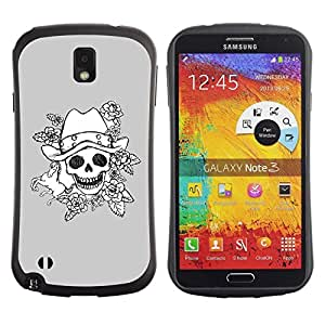 "Hypernova Slim Fit Dual Barniz Protector Caso Case Funda Para Samsung Note 3 [Mal emotivo Oscuro Roca Gris Poker""]"