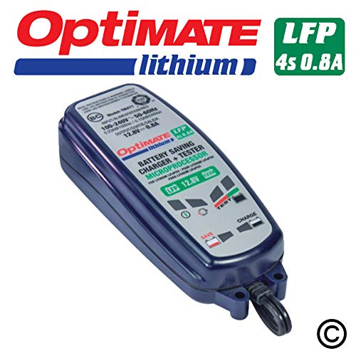 OptiMATE Lithium 4s 0.8A, TM-471, 8-Step 12.8/13.2V 0.8A Battery Saving Charger-Tester-maintainer (Smart Battery Shot Charger)