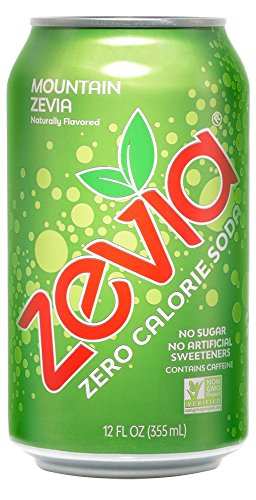 Zevia Zero Calorie Soda, Mountain Zevia, Naturally Sweetened Soda, (24) 12 Ounce Cans; Citrus-flavored Carbonated Soda; Refreshing, Full of Flavor and Delicious Natural Sweetness with No Sugar