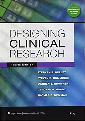 Designing clinical research hulley