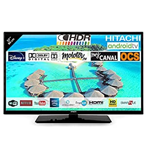 "Hitachi 32FK5HAE2252 TV LED 32"" 80,01cm HD con Alexa Android Smart TV: Netflix, Youtube, Prime/Wifi/3 HDMI/2 USB 8"