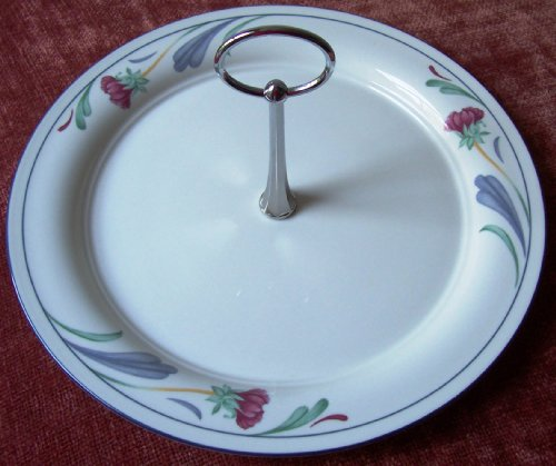 Lenox Poppies on Blue (For the Blue) Center Handled Serving Tray / Platter Made in the USA