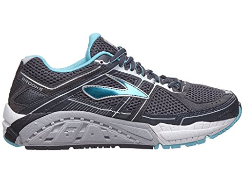 Brooks Addiction 12, Zapatos para Correr para Mujer Anthracite/Bluefish/Silver