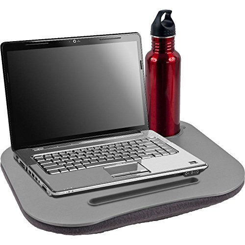 Laptop Buddy Gray Cushion Desk - Pen and Cup Holder - Easy t