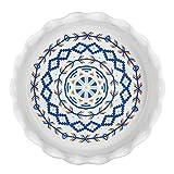 Lifver 10.5 - inch Ceramic Deep Non-stick Pie Dish, Mandala Style