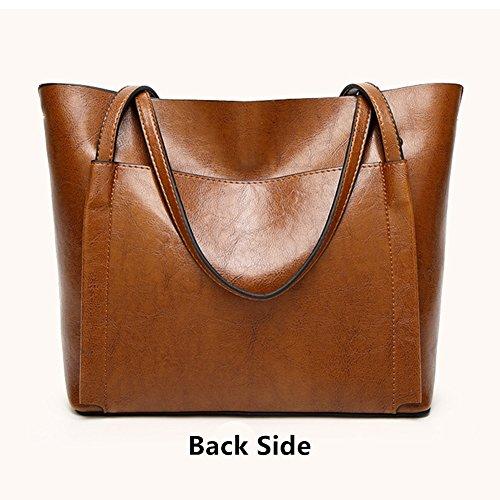 Tote Leather Large Shoulder Black Women Bag Fayland Handbags Hobo Satchel Bags Stylish Capicity Messenger P1xqwU6Eq