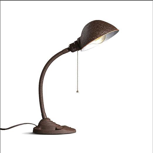 YXWtd Lámpara de Mesa de Dormitorio Sala de Estudio de Viento ...