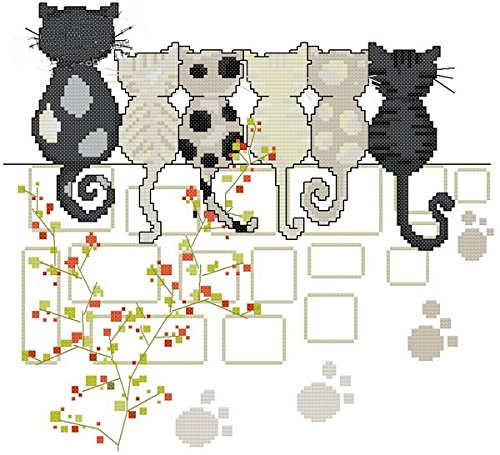 espera gatos Kit para punto de Cruz, 14 ct 139 * 127stitch ...