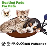 "Pet Heating Pad, NuoYo Warming Pet Heat Mat for Dogs and Cats with 7 Level Adjustable Temperature Chew Resistant Cord Soft Removable Waterproof Electric Cover Overheat Protection 11.8"" (30 cm)"