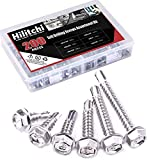 Hilitchi 410 Stainless Steel #10 Hex Washer Head