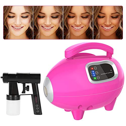 Filfeel Spray Tan Machine, Sunless Tanning Sprayer Solution Professional Kit for Giving You a Bronzed Skin(Pink)