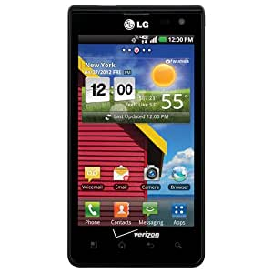 "Verizon Prepaid Cell Phone LG Optimus Exceed 3G Android 4"" screen"