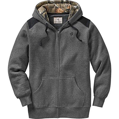 Legendary Whitetails Ladies Traveler Hooded Sweatshirt Jacket Charcoal Heather X-Small