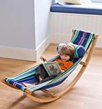 Sitting Hammock Stand, Rocking Type, Cotton Hammock, Wooden Frame, Highly Durable And Sturdy Construction, Amazing For Kids, Portable, Suitable For Indoors And Outdoors, Comfortable And Cozy & E-Book.