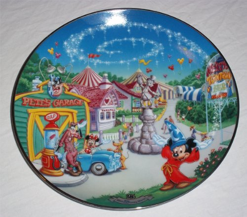 Bradford Exchange Walt Disney World 25th Anniversary Mickey's Toon Town Fair Plate