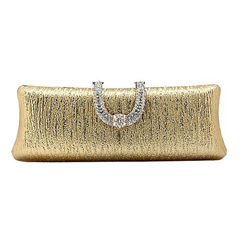 YYW Evening Bag - Cartera de mano para mujer dorado