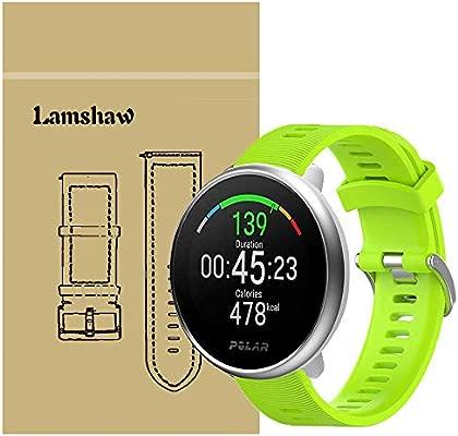 Ceston Moda Deporte Silicona Clásico Correas para Smartwatch Polar Ignite (Verde)