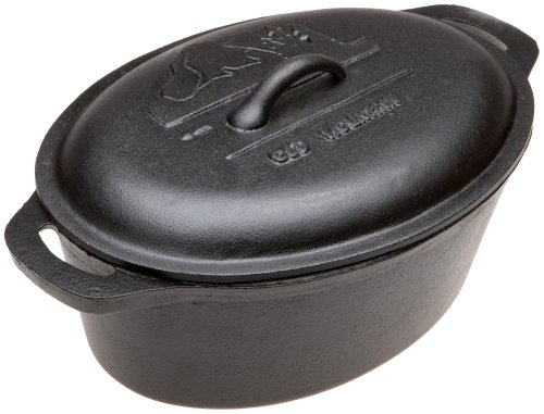 - Old Mountain Pre Seasoned 10118 4 Quart Casserole with Dome Lid and Two End Handles