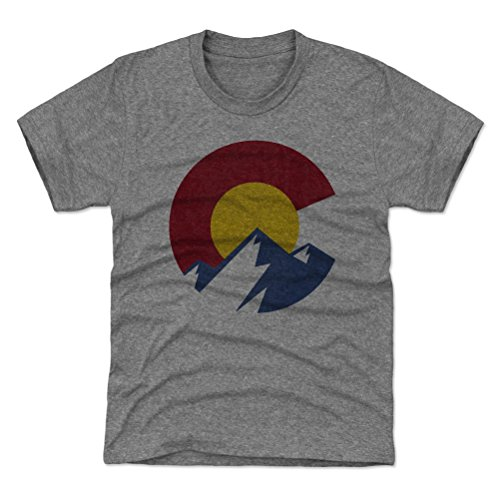 500 LEVEL Colorado Youth Shirt - Kids X-Small  Tri Gray - Co