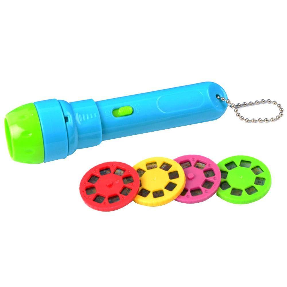 Enfants lampe de poche projecteur enfants Sleep Story Projector Torch Enfants lumineux jouet Spin and Learn couleur lampe de poche bébé lampe de poche avec piles