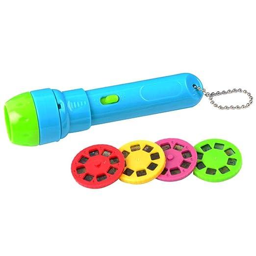 circulor Proyector para Niños, Linterna Cuentos Infantil Story para Linterna Baby Flashlight Toys - 4 Temas para 32 Imágenes