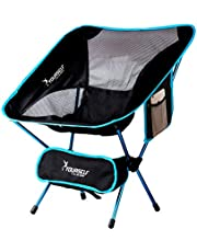 SYOURSELF Portable Folding Camping Chair Table-Lightweight,Compact,Comfortable,Breathable Beach Travel Mesh Chairs,Heavy Duty-Perfect for Backpacking Hiking Outdoors Sports 4 Spare Feet with Carry Bag
