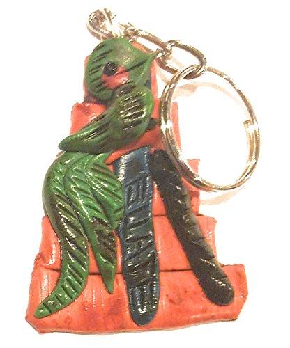 Guatemalan Shoulder Bag - Colorful Guatemala Souvenir Key Chain/Backpack Charm/Purse Charm/Key Ring (Bird)