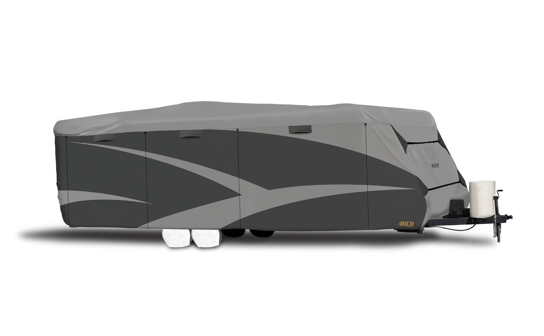 ADCO 52243 Designer Series SFS Aqua Shed Travel Trailer RV Cover - 24'1' - 26', Gray