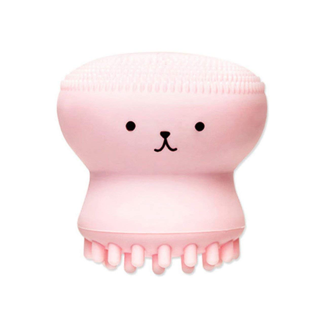 Liobaba Little Cute Jellyfish Wash Brush Exfoliating Face Cleaner Massage Soft Silicone Facial Brush Scrubber Deep Pore Cleaning Brush