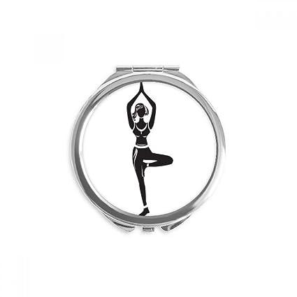 DIYthinker Yoga Girl Soporte mostrar una silueta espejo ...