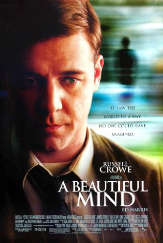 (A BEAUTIFUL MIND MOVIE POSTER 2 Sided ORIGINAL FINAL 27x40 RUSSELL CROWE)