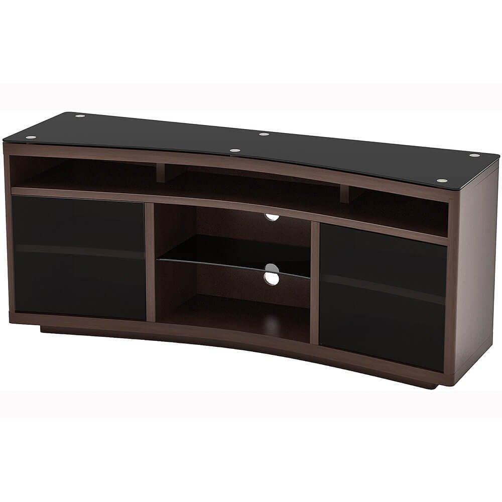 Amazon Com Z Line Designs Radius Curved Tv Stand Brown Kitchen