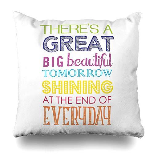 Ahawoso Throw Pillow Cover Square 18x18 Inches Carousel of Progress Decorative Pillow Case Home Decor Pillowcase