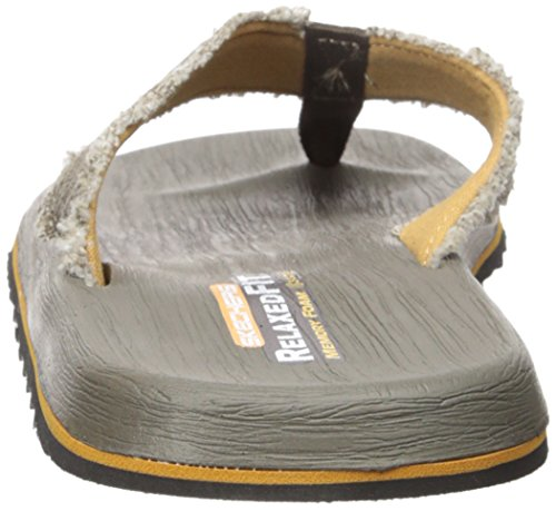 Skechers Men's Tatric Salman Flip Flop Brown sale sast cheapest price sale online CwFgcGC