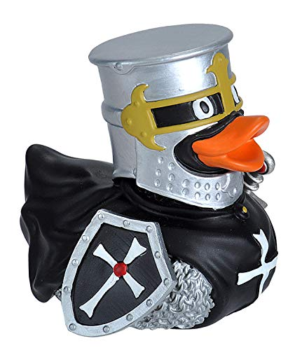 Ducks in the Window Knight Black Rubber Duck, Bath Toy, Gifts, No-Mold, Wild - Knight No Loyal